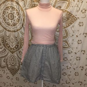 Mossimo high rise mini striped skirt